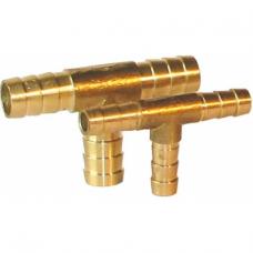 Ниппель переходной тройник (штуцера) для шланга ф9/ф9/ф9мм