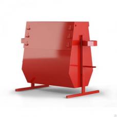 Стенд пожарный металл. закрытый Комби 1х0,5х1,3 с бункером д/песка (без комплекта)