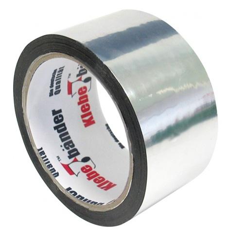 Лента металлизированная клейкая 50мм х 50м полипропилен t80°С Klebebander 36/6