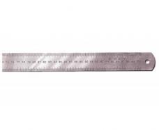 Линейка металлическая 1000мм 2-шкалы ц.д.1мм b37