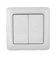 Выключатель скрытой проводки 2клавиши С-56-105(008)