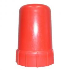 Колпак-головка металл для пропанового баллона красный