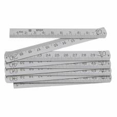 Метр складной металлический 0-1000мм b12мм через 100мм 1,0мм