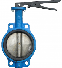 Затвор дисковый чугунный DN65 PN16 межфланцевый рычаг
