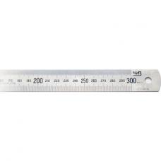 Линейка металлическая 300мм 2-хсторонняя шкала b-25,4мм