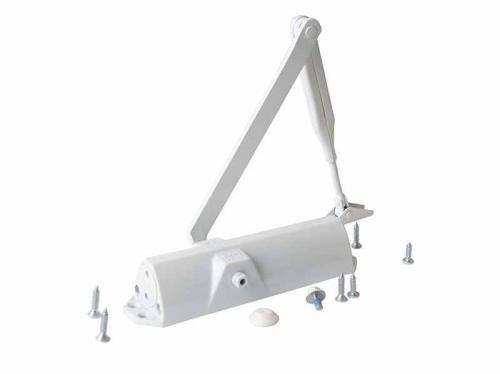 Доводчик дверной Dorma TS-68 EN2/3/4 белый до 120кг 850/950/1100мм (max 180°/105°)