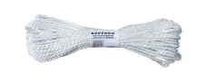 Веревка ПА (полиамидная) плетенная 24х-прядная ф10мм разрывная нагрузка-1450кгс (п.м.63-64г/ бух.367м)
