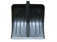 Лопата снеговая радиусная пластиковая (430х490хh130мм) оцинкованная планка без черенка