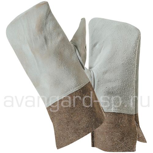 Вачеги цельнокройные кожевенный спилок + сукно шинельное жаростойкие