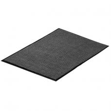 Коврик влаговпитывающий 60х90см ребристый серый/черный