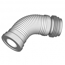Слив для унитаза гибкий гофра мягкий выпуск ф110 231-500мм