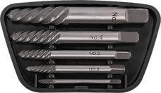 Набор экстракторов FIT 36436 5шт М3-М10 усиленный HRC58-62 пласт.бокс