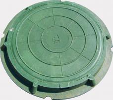 Люк смотровых колодцев Л-А30-1-60 3т 780х110мм полимер-композит зеленый