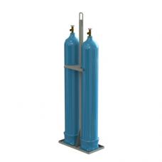 Паллета контейнер металл. для 2-х пропановых баллонов ПБП-07-02 690х340х1320мм