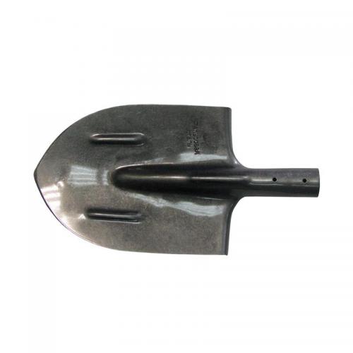 Лопата штыковая ЛКО(ЛШУ) рельсовая сталь  остроконечная эмаль черная К-2/1 без черенка