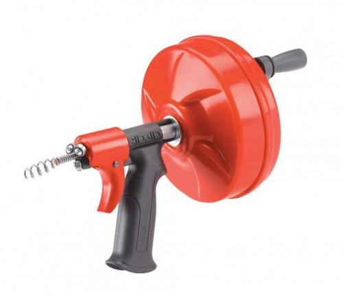 Вертушка ручная д/прочистки труб Ridgid Power Spin 6,3мм х7,6м до40мм 1,8кг (88387)