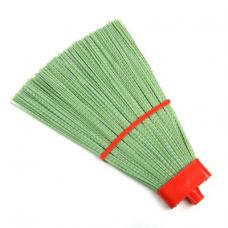 Метла синтетическая плоская L-330х380мм прямая веерная на пластиковой колодке без черенка №9 (Коломна)