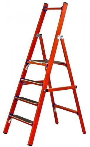 Лестница стеклопластик. стремянка ССД-2,3 (Евро) с симметричной опорой 7ступеней  L2,3 150кгс