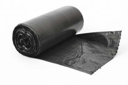 Мешки для мусора 120л рулон-10шт Лисенок ПНД 10мкм 66х98см фальц черный (1/100)