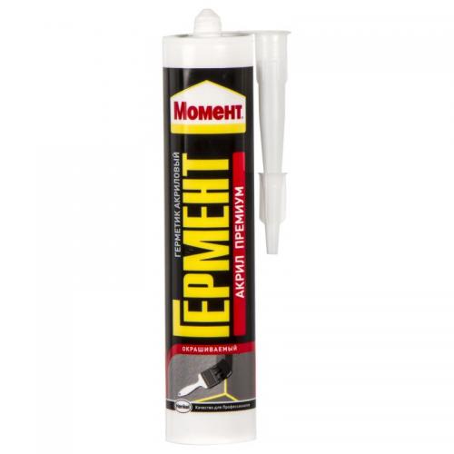 Герметик акриловый Момент Гермент 420г универсал морозост. белый Henkel 1358680 1/12