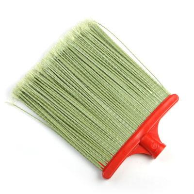 Метла синтетическая плоская L-230х330 прямая гофрированная на пластиковой колодке без черенка №1 /39222/(Коломна)