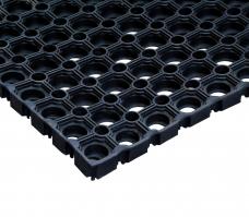Коврик грязесборный резиновый ячеистый 80х120х1,6см черный Vortex 20003