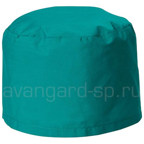 Колпак Тиси медицинский тк.Смесовая ВО с завязками зеленый