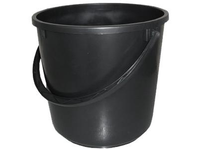 Ведро пластиковое 13л хозяйственное с ручкой ф300хh290мм (цветное/черное)