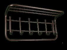 Вешалка настенная с полкой 60см 6крючков