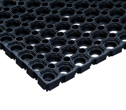Коврик грязесборный резиновый ячеистый 50х100х1,6см черный Vortex 20098