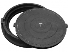 Люк смотровых колодцев Т-С250-60 25т полимер-композит чёрный