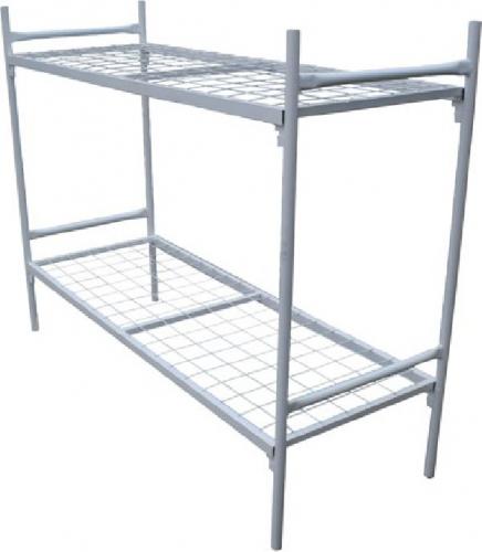 Кровать металлическая 2-х ярус. 1-сп. 1900х700х1900мм (упаковка картон)