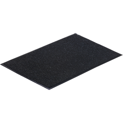 Коврик влаговпитывающий ребристый 50х80cм серый ПВХ/полиэстер Vortex 22081