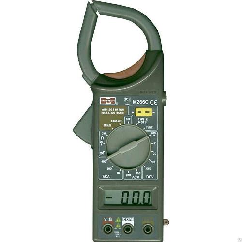 Клещи токоизмерительные Mastech М266C 1000/750В 400А 2000кОм 3.1/2