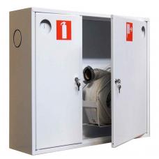 Шкаф пожарный металл. навесной 2отд. закрытый ШПК-315НЗБП 840х650х220мм белый левый