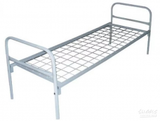 Кровать металлическая 1-ярус 1-сп. (1900х700х500мм) сетка сварная (КМ18)