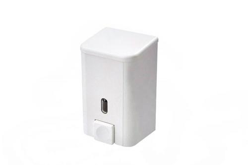 Диспенсер для жидкого мыла Bravo D-SD01 500мл 8,5х8,5х15см ABS-пластик белый