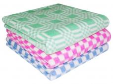 Одеяло байковое детское (хлопок) 100х140см