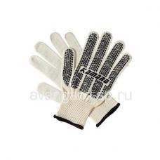 Перчатки трикотажные х/б с точечным ПВХ протектор Кamapo кл.10 57г белый