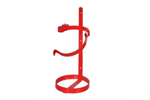 Кронштейн огнетушителя ОП-5/6/8 ТВ5 мет. 2-кольца с защелкой ф160 h380мм красный