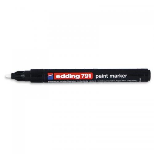 Маркер промышленный Edding 791 черный круглый 1-2мм лаковый пластик