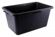 Таз пластиковый 45л строительный прямоугольный 590х395хh290мм черный (62-2-140)