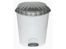 Ведро для мусора пластиковый с педалью 7л контейнер 195х235хh295мм (4312026)