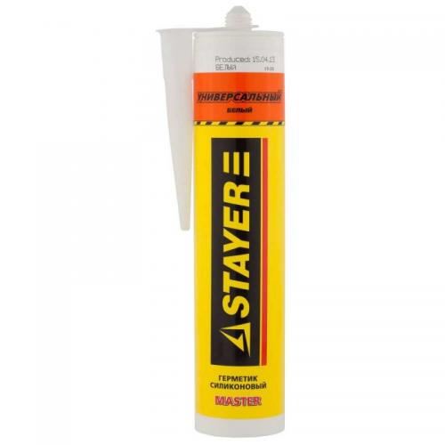 Герметик силиконовый Stayer Master 260мл универсал белый 41213-0_z01