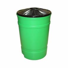 Бочка бак пластиковый 200л с крышкой 700х700х100мм
