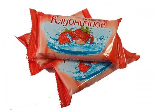 Мыло туалетное Ординарное 100г флоу-пак клубника,альпы,цитрус (1/80) Москва