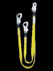 Строп пояса лента аАд капрон 2-ветви амортизатор 3-карабина 2хКР01,КР04 Потенциал