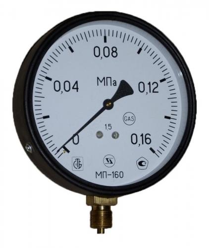 Манометр МП4-Уф 0-160 кПа кт.1,5 ф150мм IP40 М20х1,5 РШ