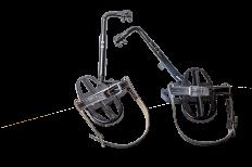 Лазы универсальные ЛУ №3 на ж/б опоры с кожаными ремнями раствор лаза рег. 175/190мм
