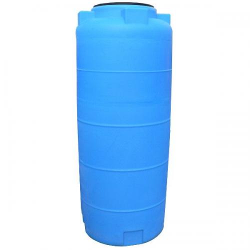Емкость 780ВФК2 цилиндр с фланцем и крышкой с клапаном синий 380х1890х750х4мм, 0,25кг